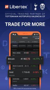 Libertex :تطبيق تداول الأسهم عبر العقود مقابل الفروقات