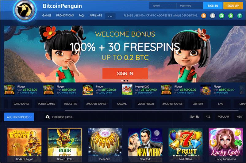 Bitcoin Penguin Casino - أفضل كازينو العملات الرقمية