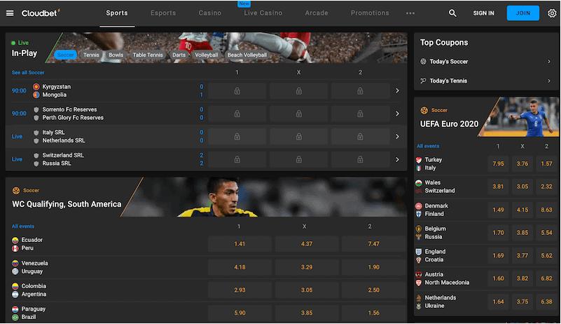 Cloudbet - منصة بيتكوين مراهنات الألعاب الرياضية والرياضات الإلكترونية