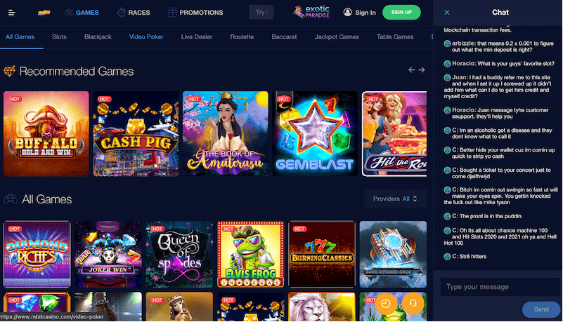 mBit Casino - ألعاب بيتكوينعالية الجودة ومكافأة ترحيب سخية